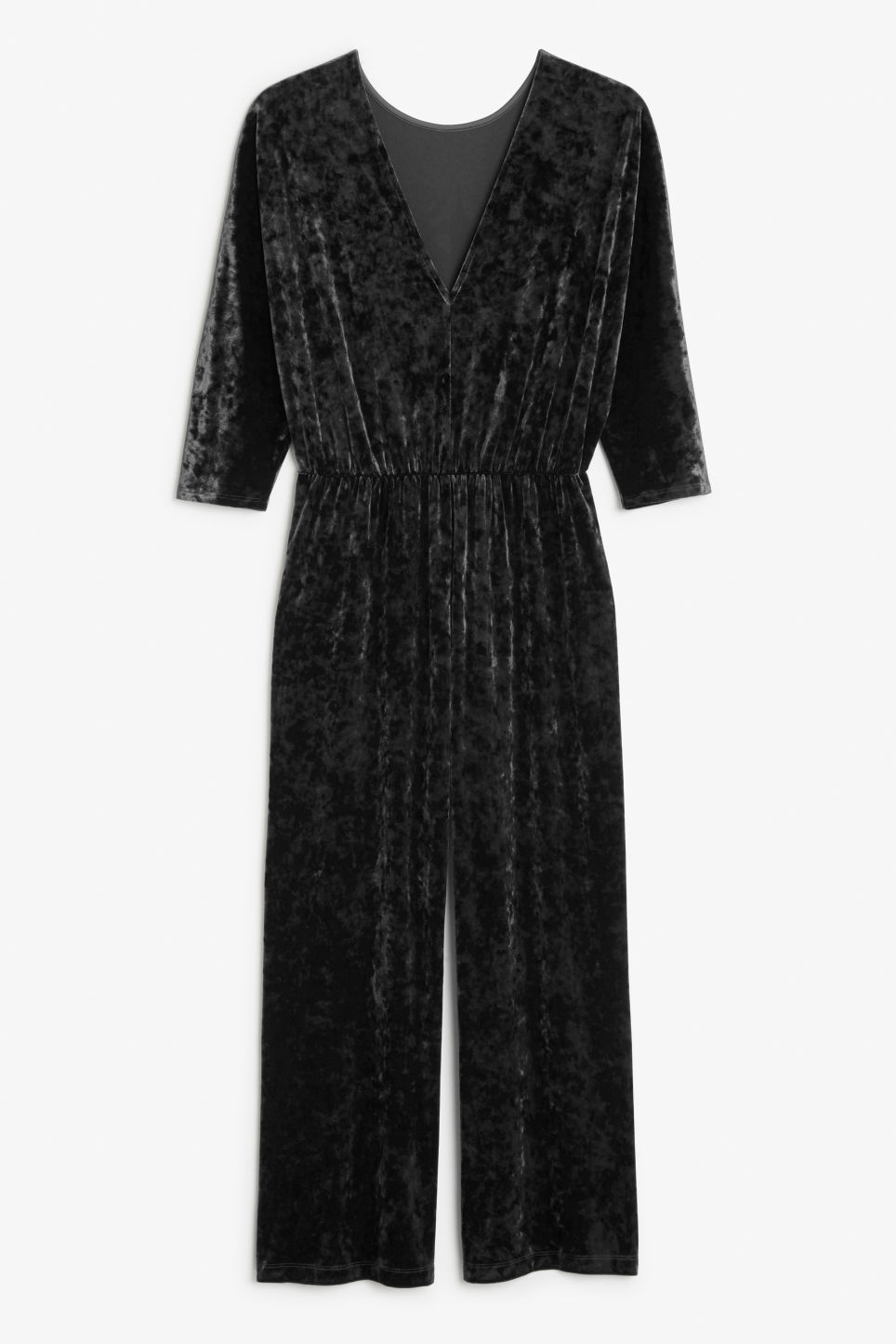 Back image of Monki fancy jumpsuit in black