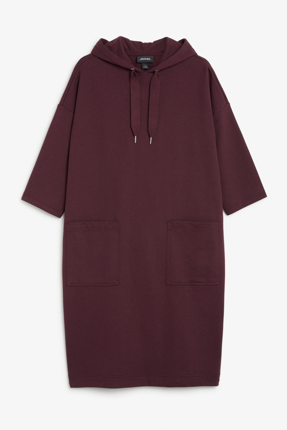 Front image of Monki oversize hoodie dress in pink