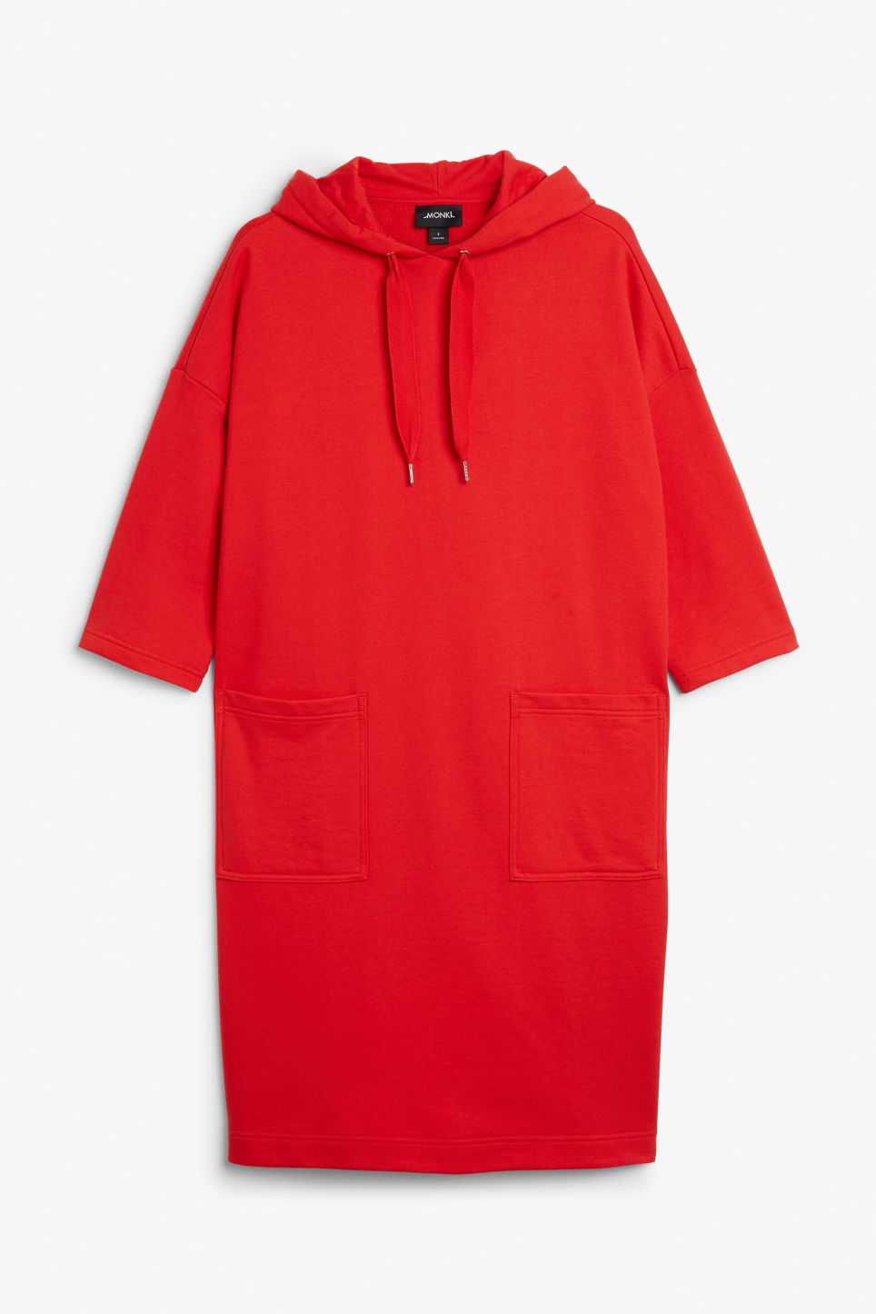 Front image of Monki oversize hoodie dress in red