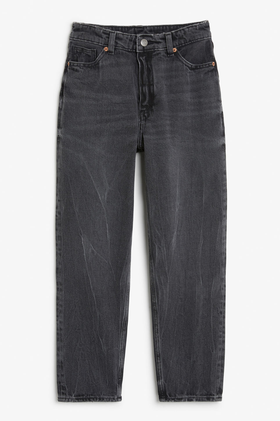 Front image of Monki taiki jeans grey in grey
