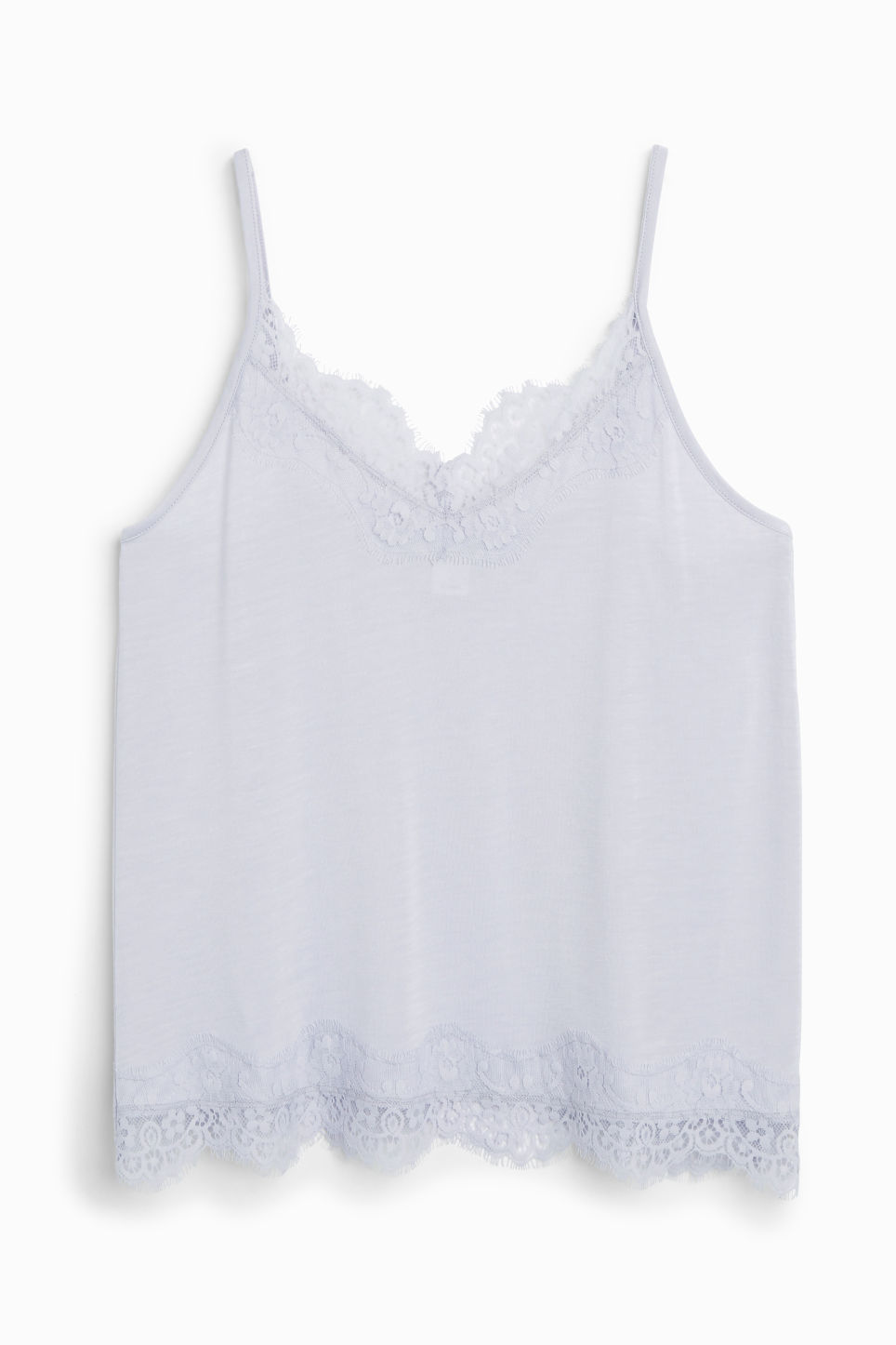 Front image of Monki lace singlet in purple