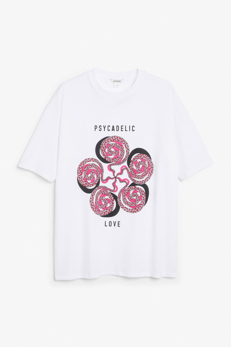 Front image of Monki oversized tee in white
