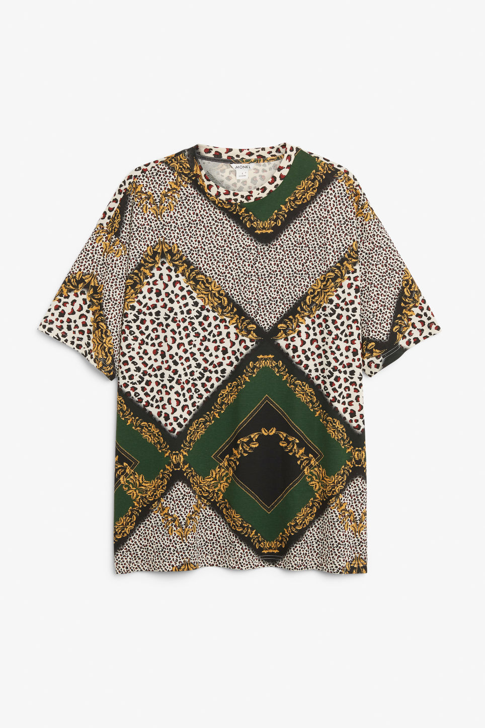 Front image of Monki oversized tee in beige