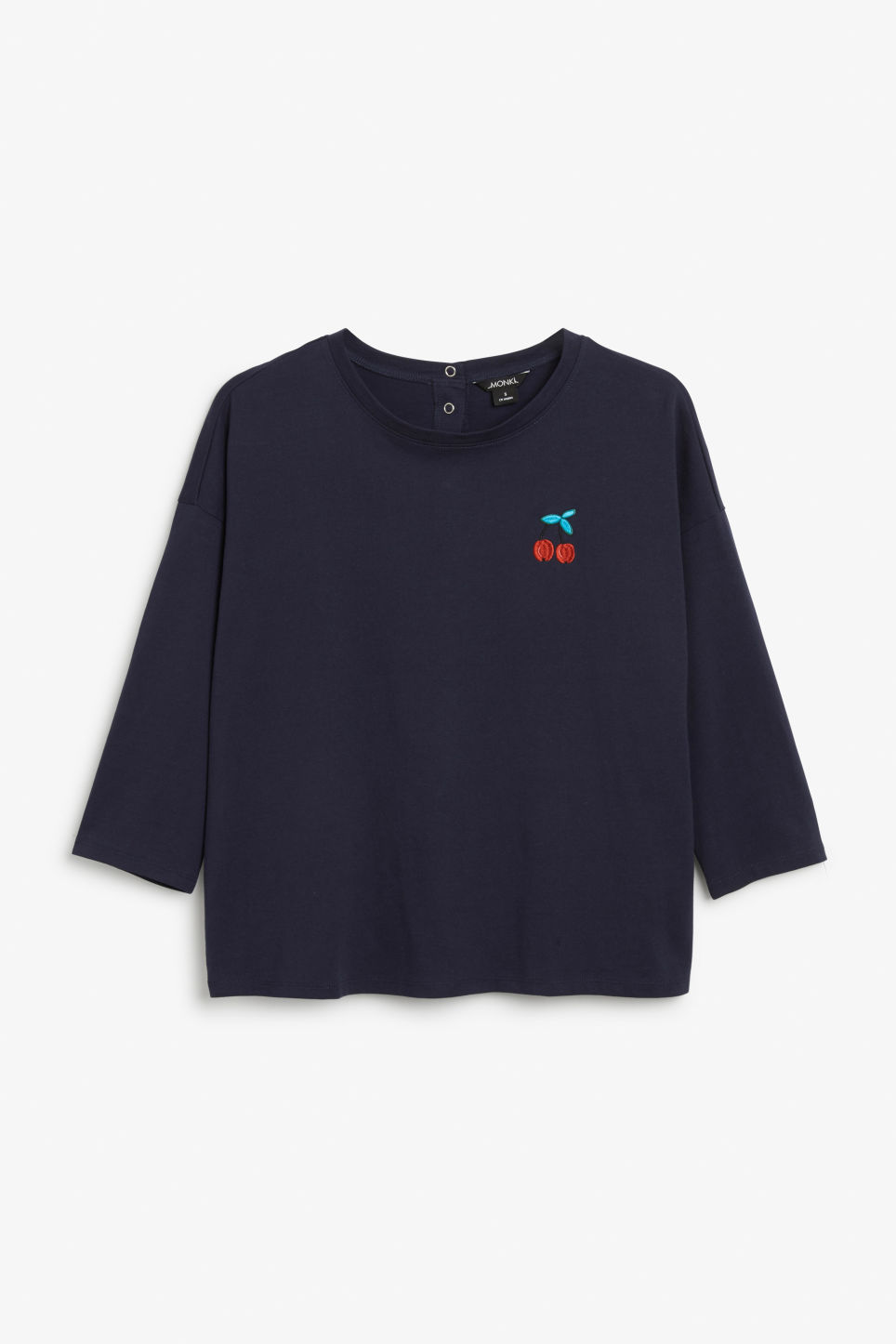 Front image of Monki long-sleeved tee in blue
