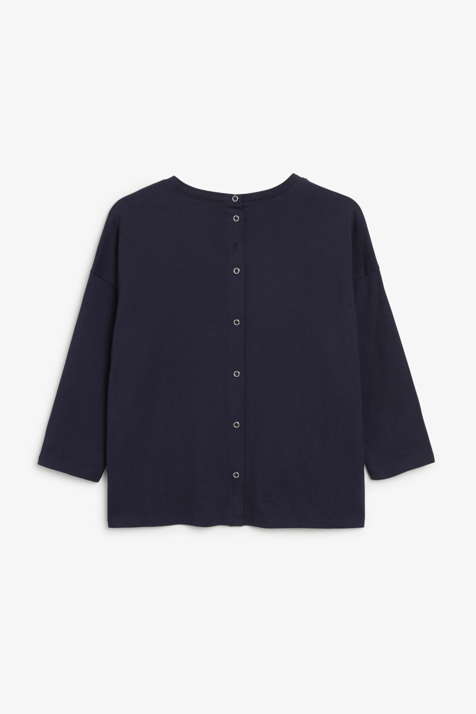 Side image of Monki long-sleeved tee in blue