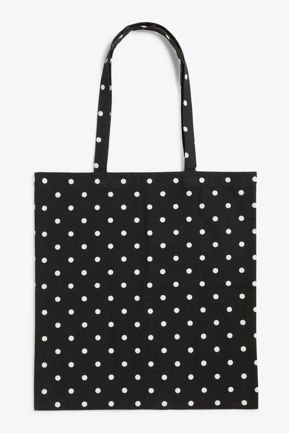 Front image of Monki tote bag in black