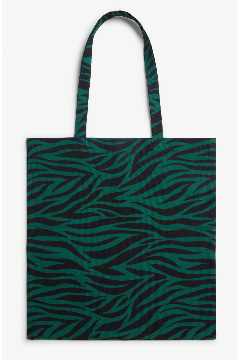 Front image of Monki tote bag in green