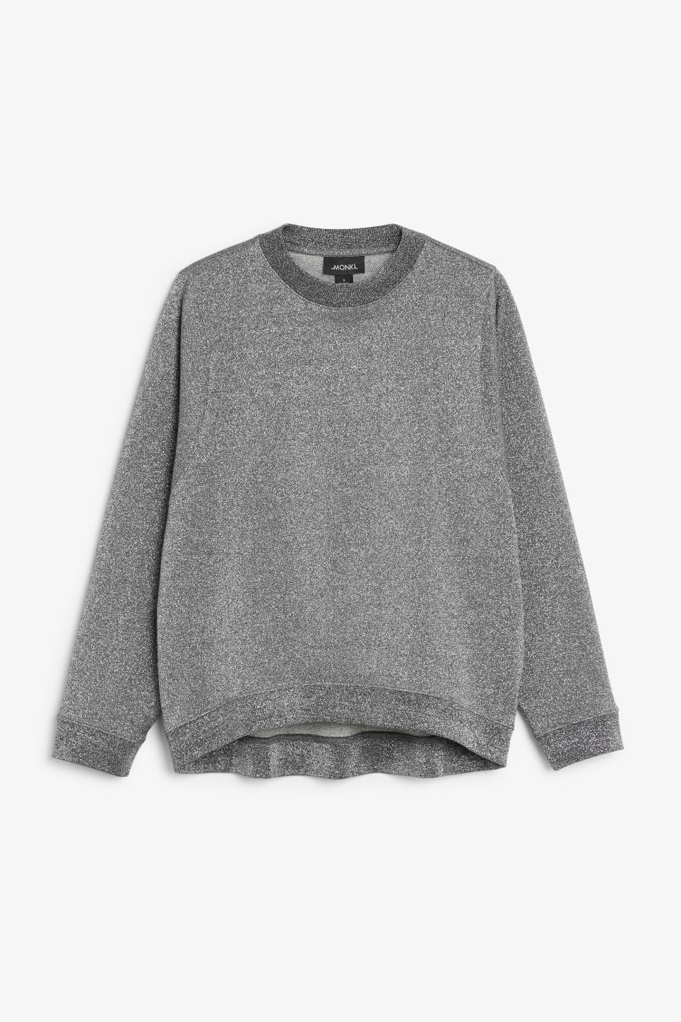 Front image of Monki loose-fit sweater in grey