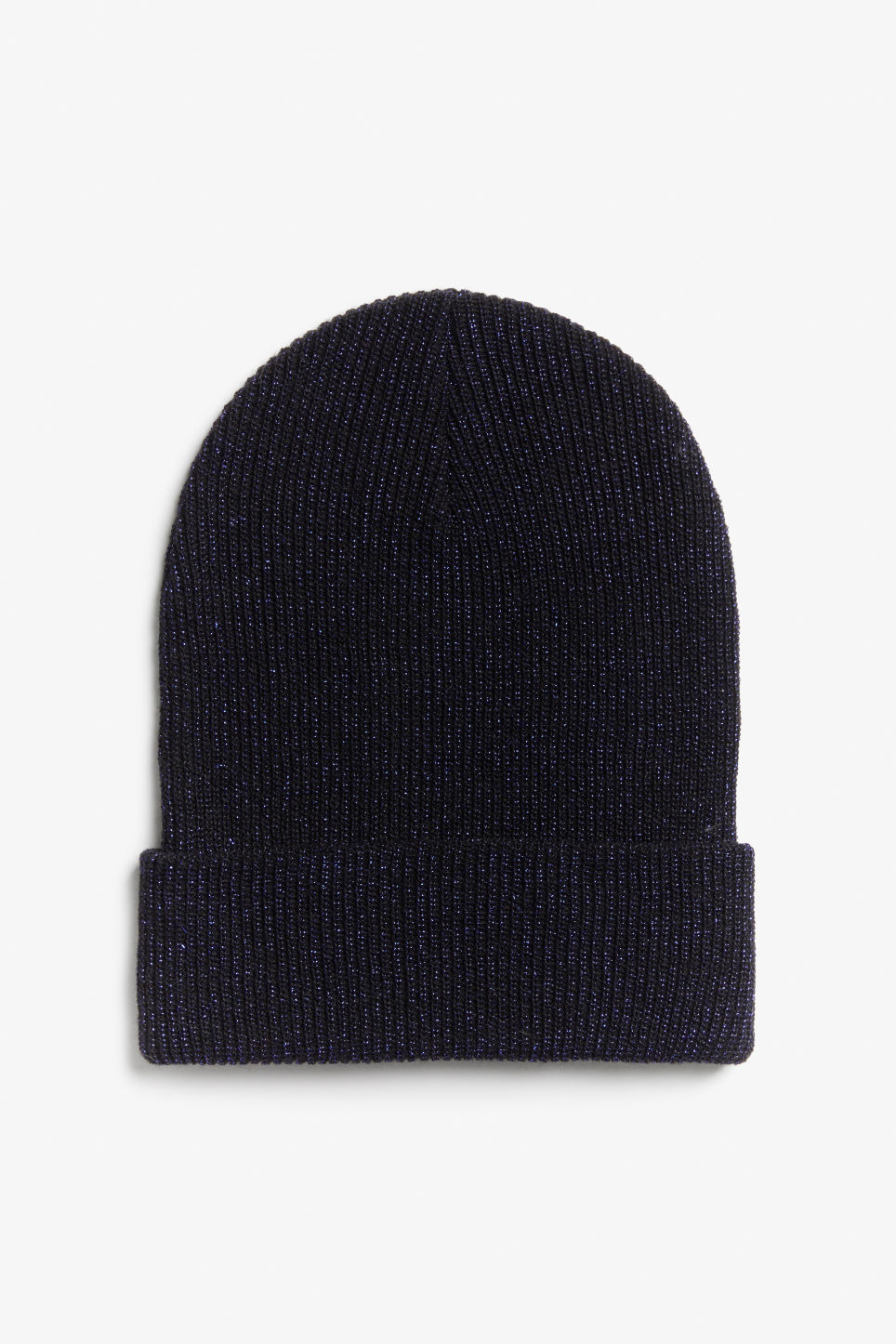 Front image of Monki sparkle beanie in blue