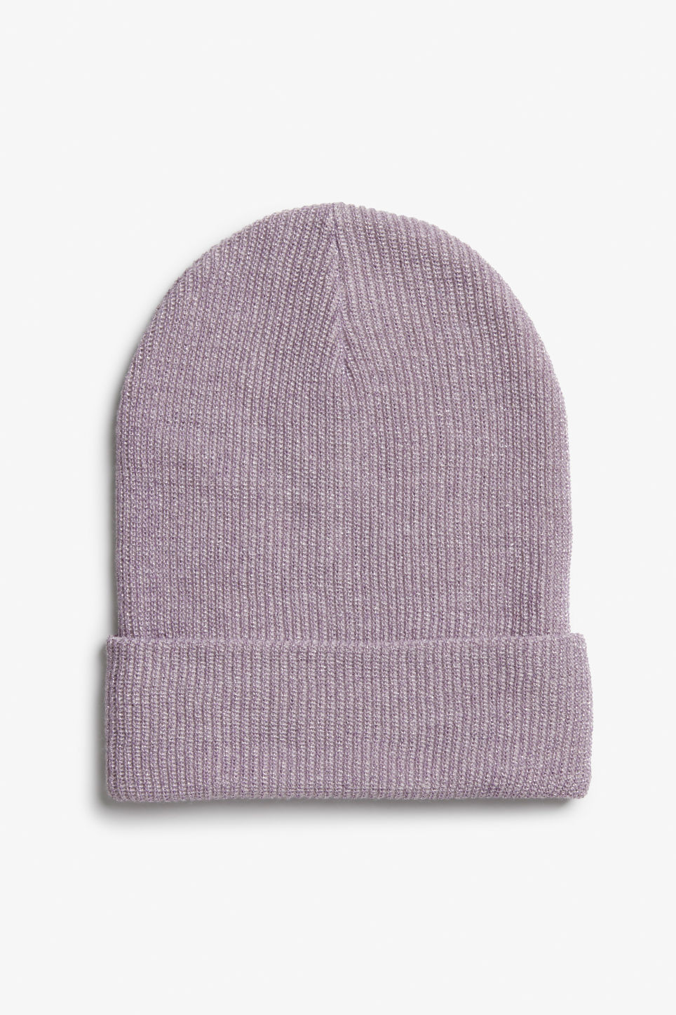 Front image of Monki sparkle beanie in purple