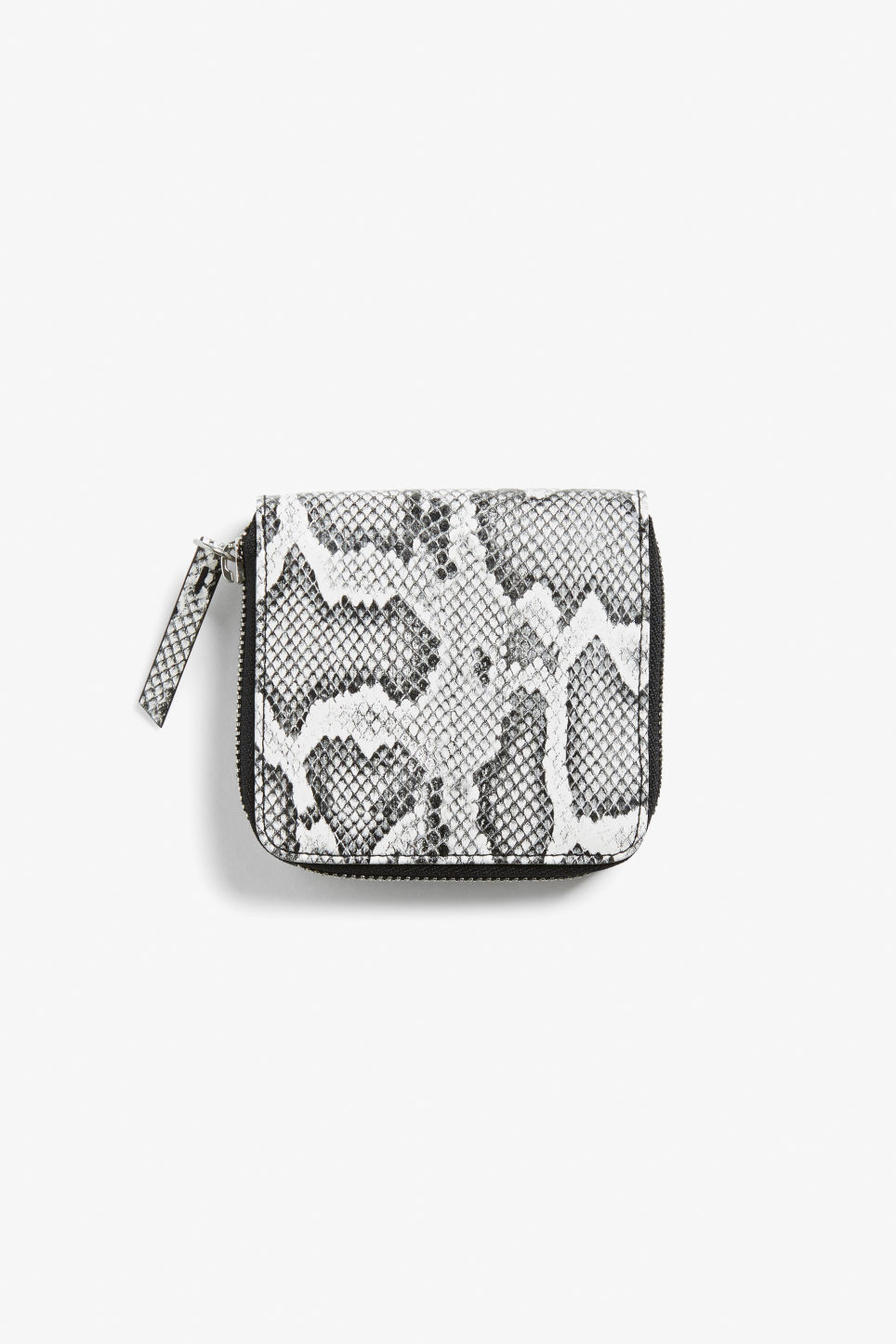 Front image of Monki coin purse wallet in grey