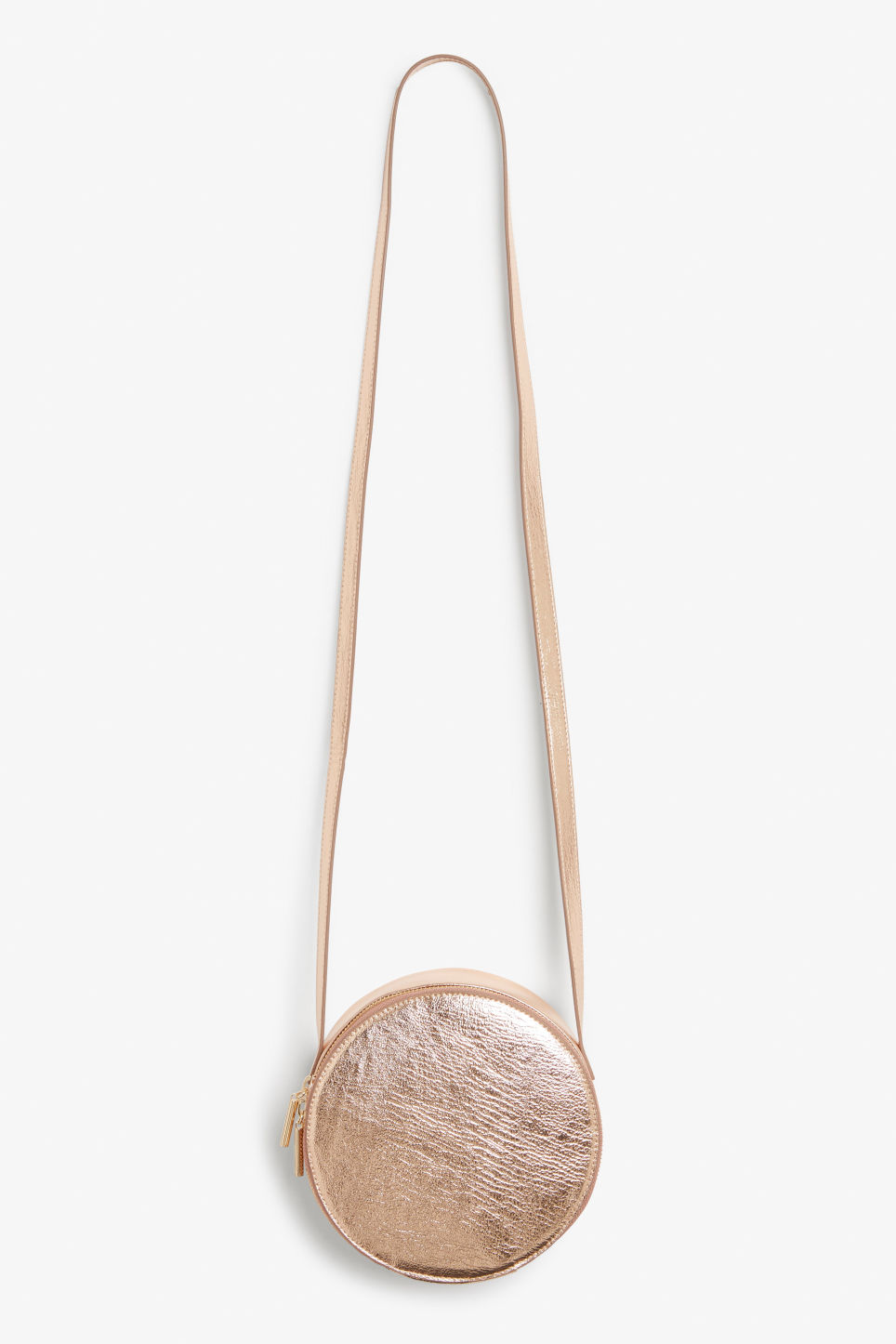 Front image of Monki round cross body bag in pink