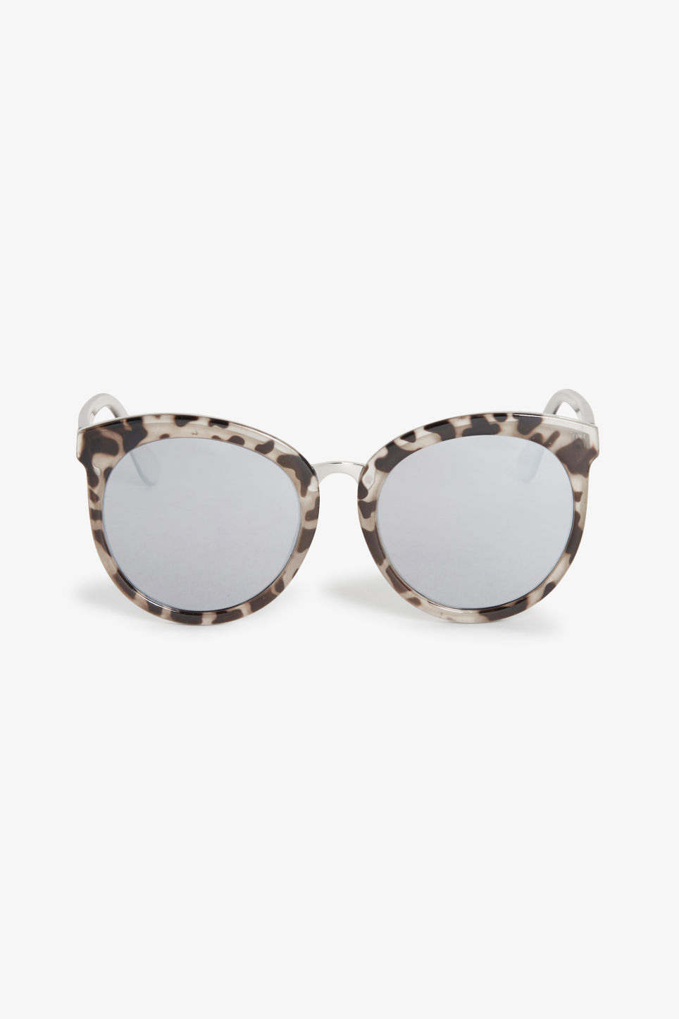 Front image of Monki cat-eye sunglasses in brown
