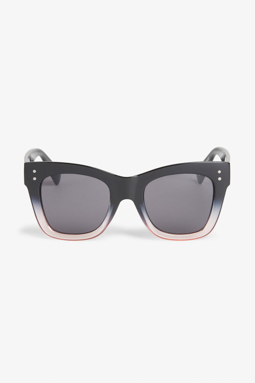 Front image of Monki ombré sunglasses in black