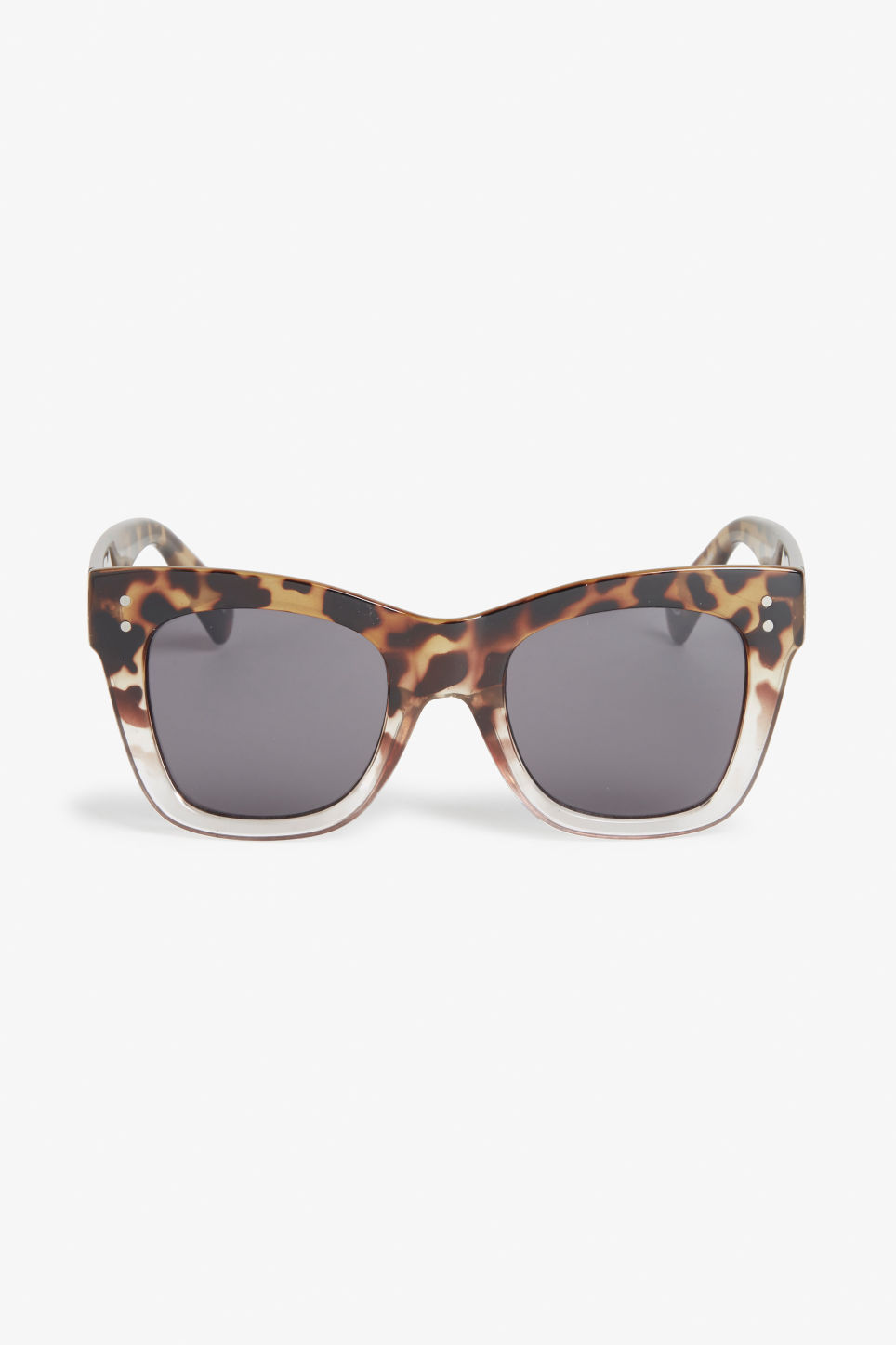 Front image of Monki ombré sunglasses in brown