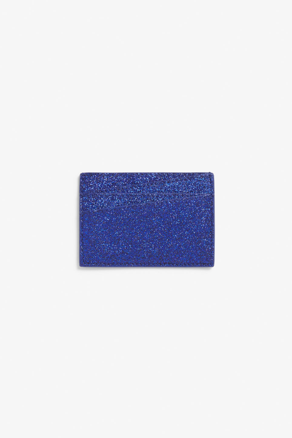 Front image of Monki card case in blue