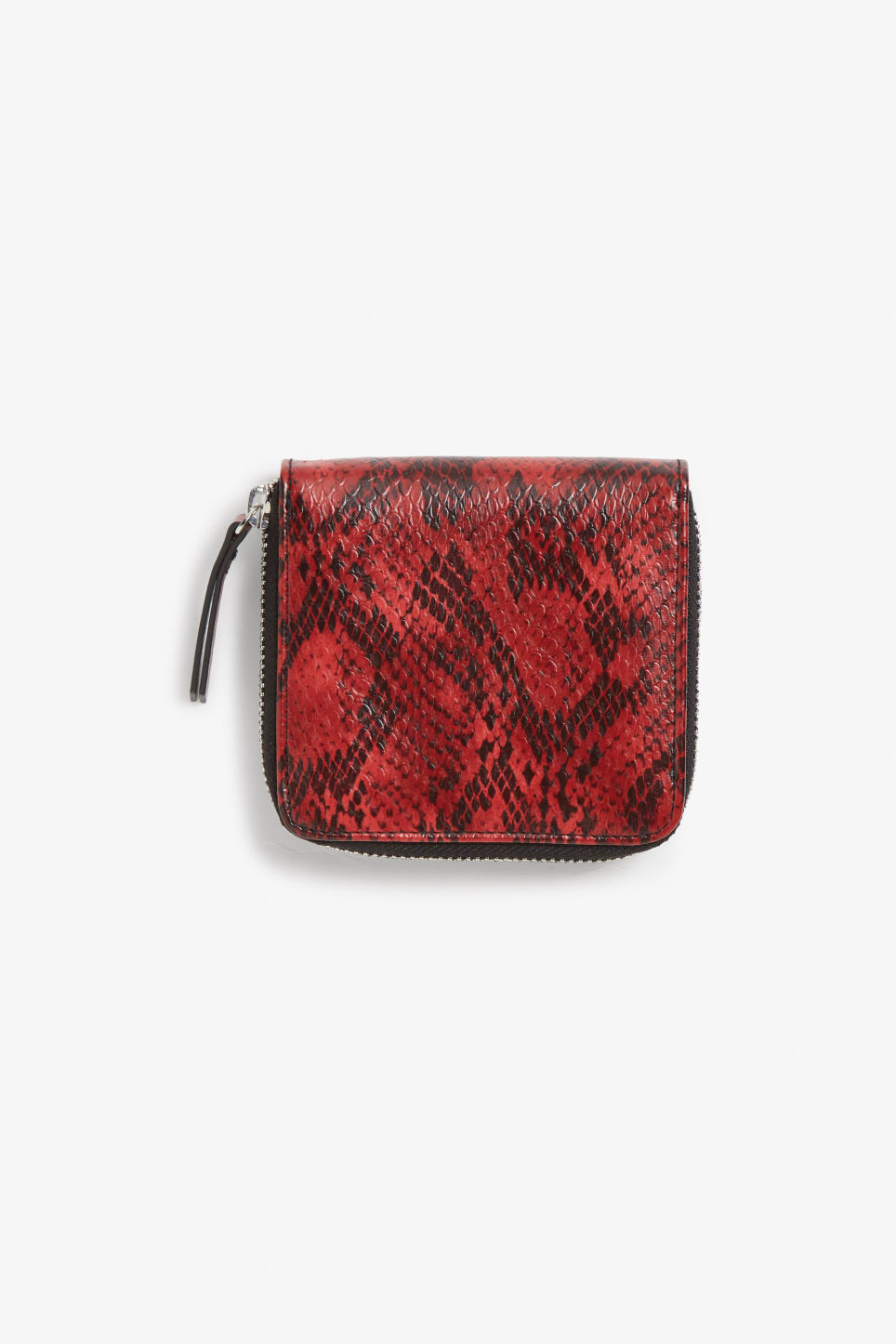 Front image of Monki coin purse wallet in red