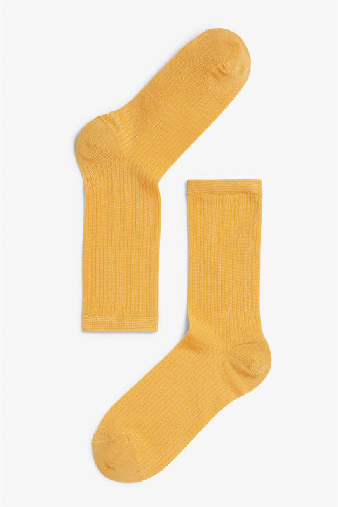 Sleek ribbed socks