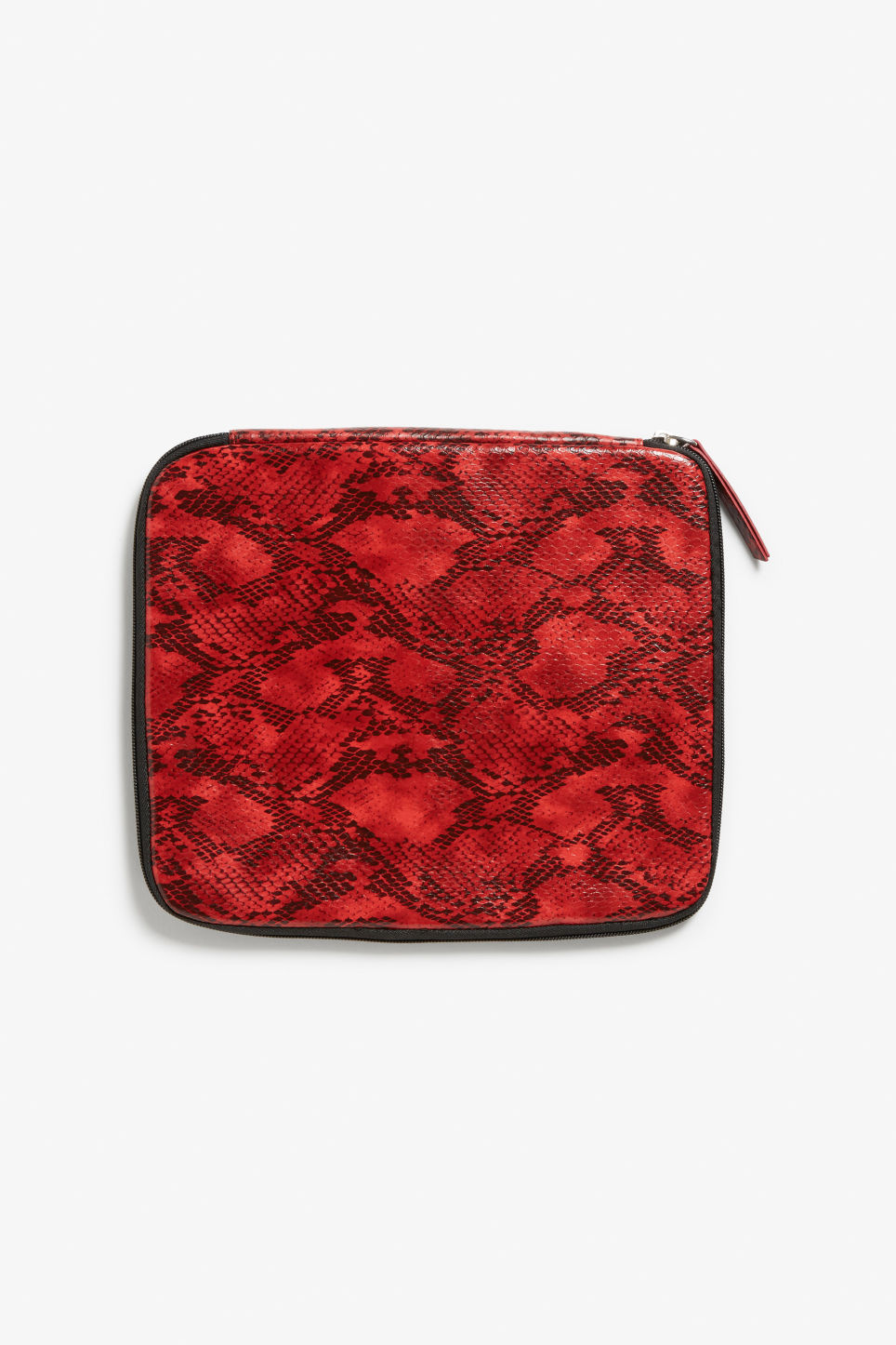 Front image of Monki red dragon case in red