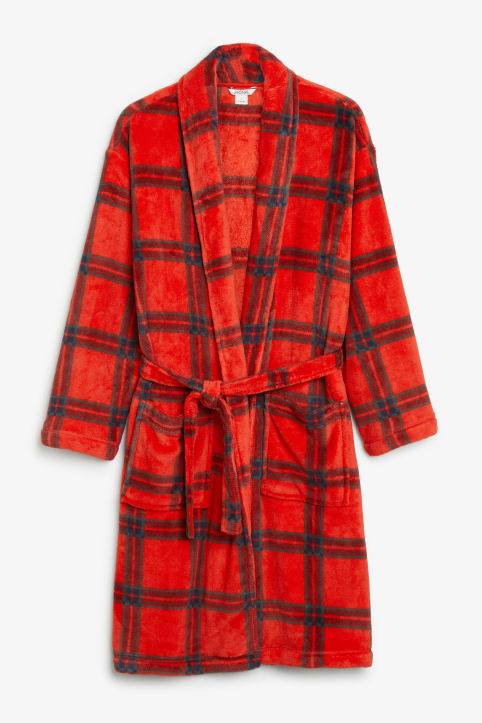Printed fleece robe