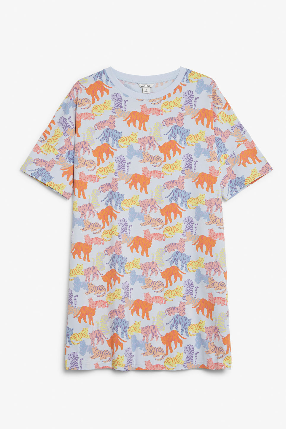Front image of Monki sleep tee in blue
