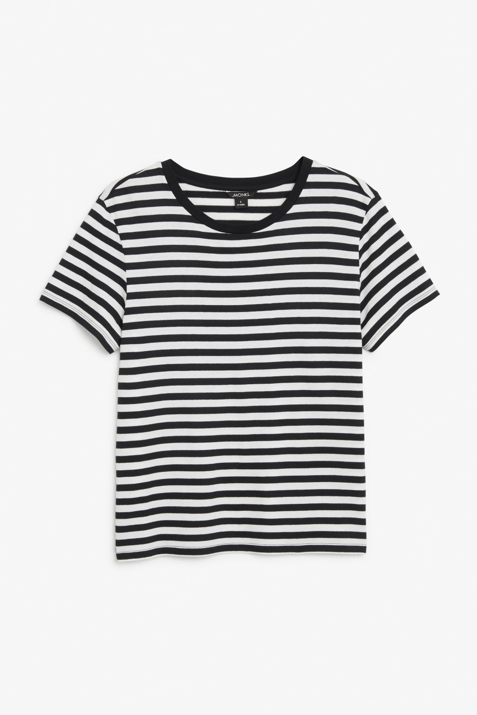 Front image of Monki soft tee in black