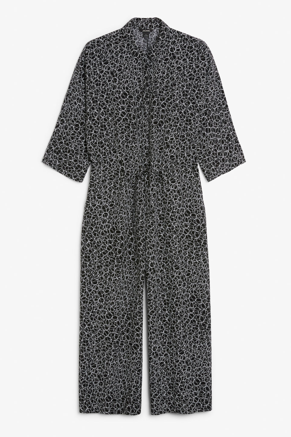 Front image of Monki wide fitting jumpsuit  in black