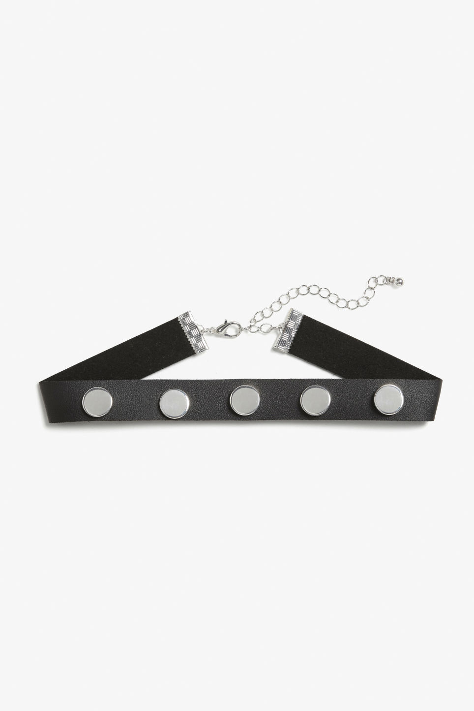 Front image of Monki studded choker in black