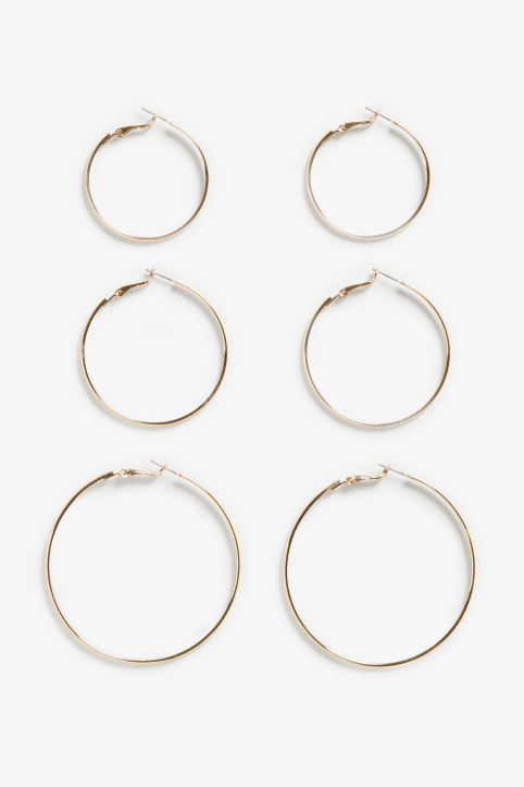 Assorted hoop earrings