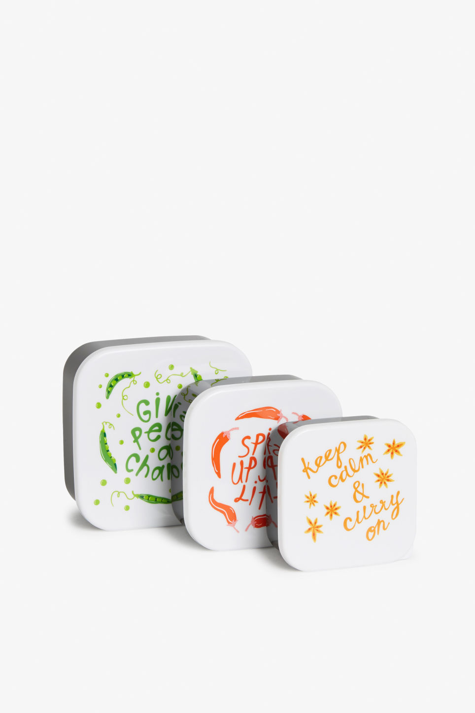 Front image of Monki foodboxes in white