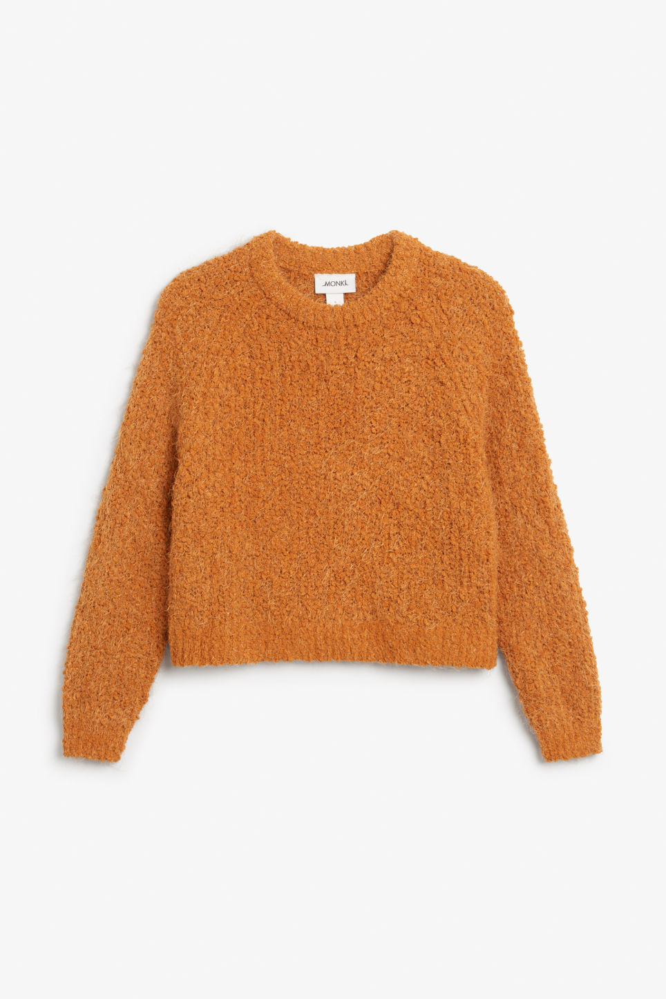 Front image of Monki knitted sweater in orange