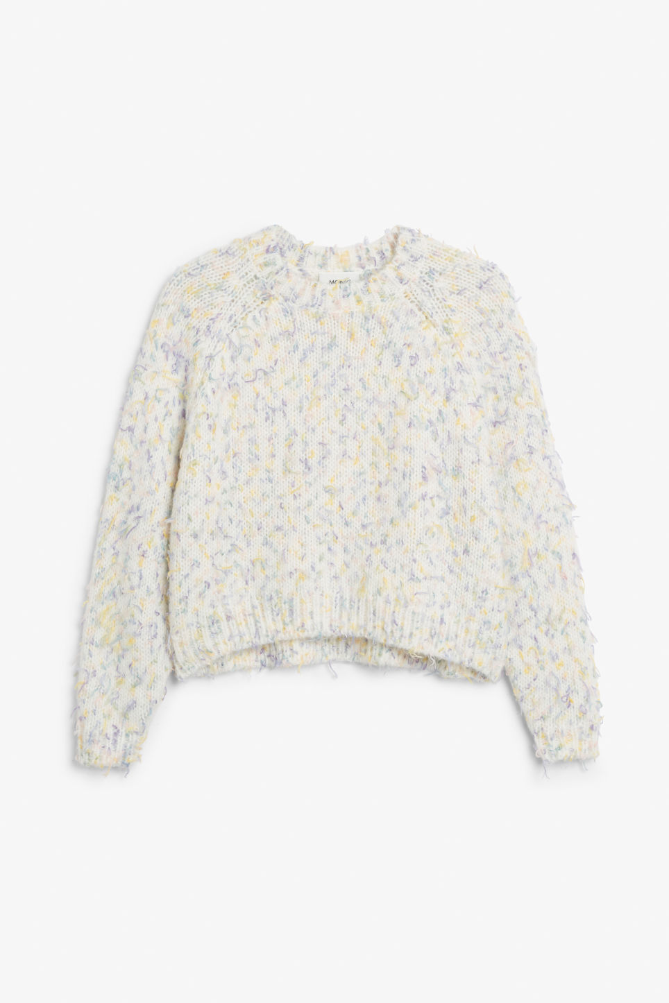 Front image of Monki knitted sweater in pink