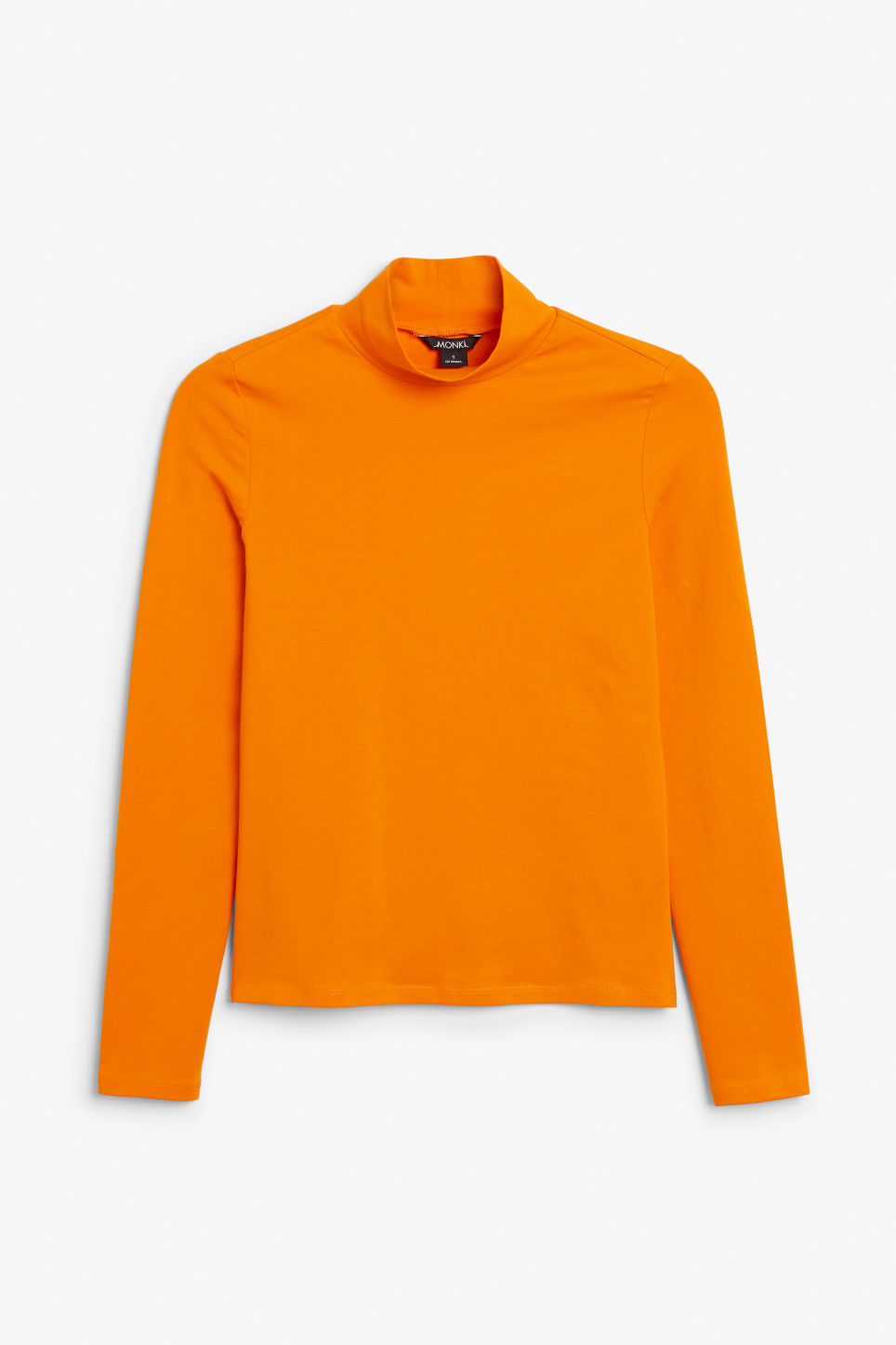 Front image of Monki stretch turtleneck top in orange