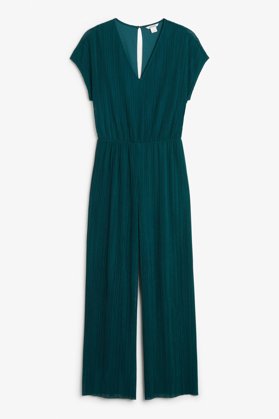 Front image of Monki pleated jumpsuit in turquoise
