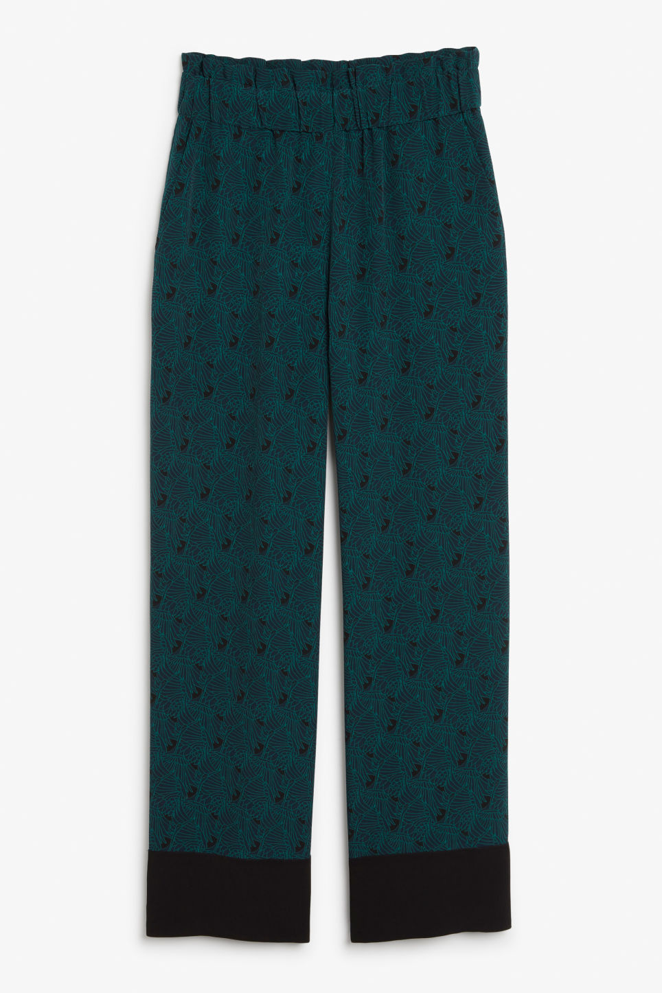 Front image of Monki pyjama suit trousers in blue