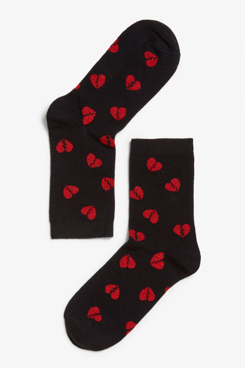 Heartbreak glitter socks