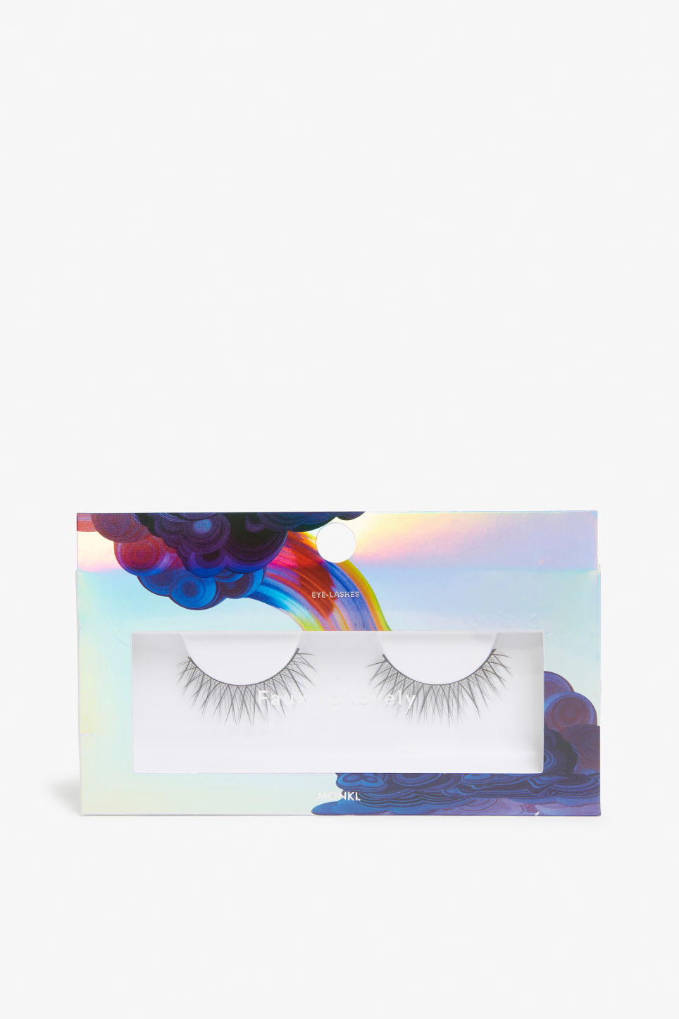 Front image of Monki faux eyelashes in black