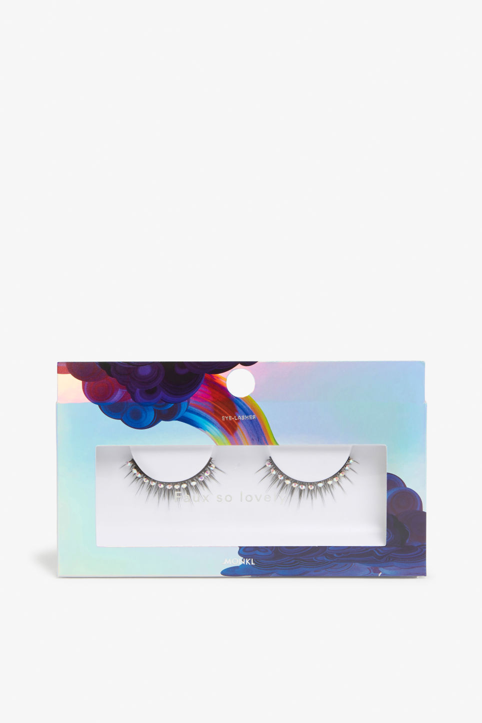 Front image of Monki faux eyelashes in white