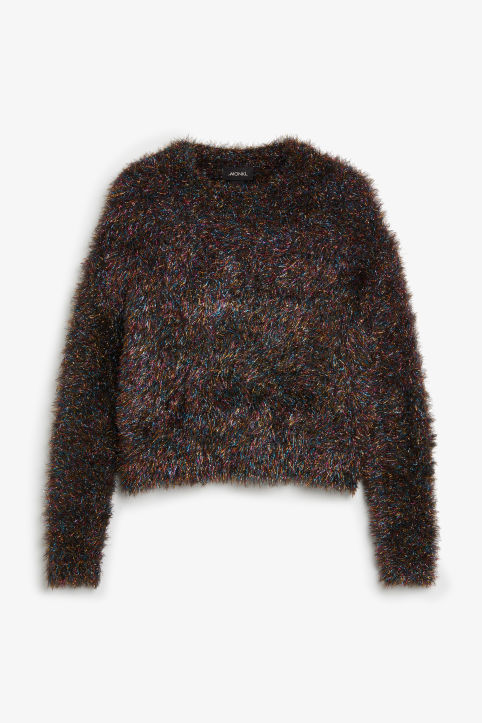 Fluffy glitter sweater