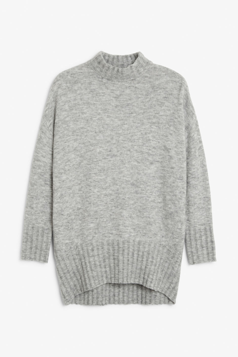 Front image of Monki cosy knitted sweater in grey