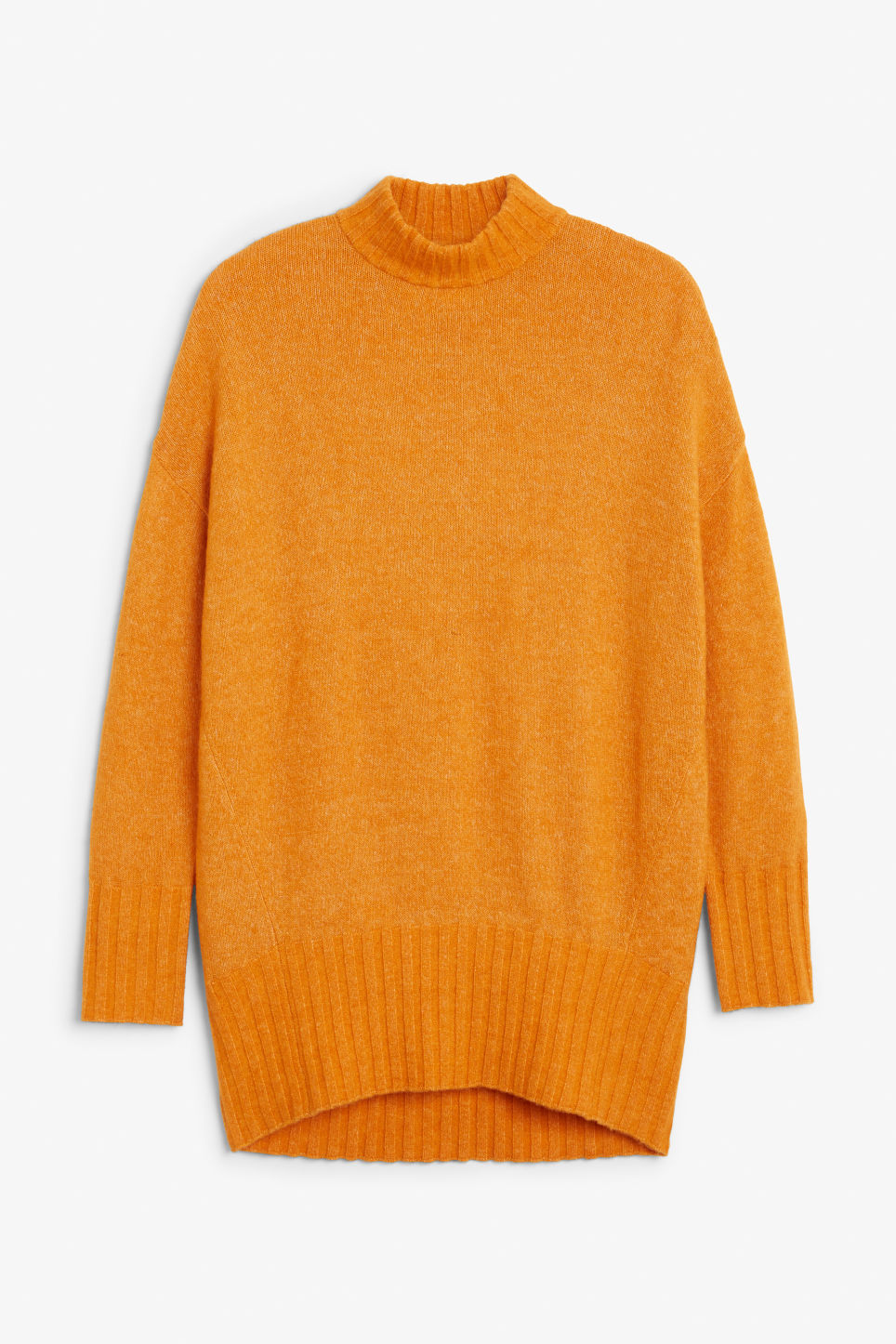 Front image of Monki cosy knitted sweater in yellow