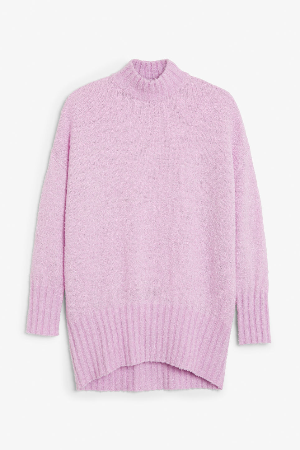 Front image of Monki cosy knitted sweater in purple