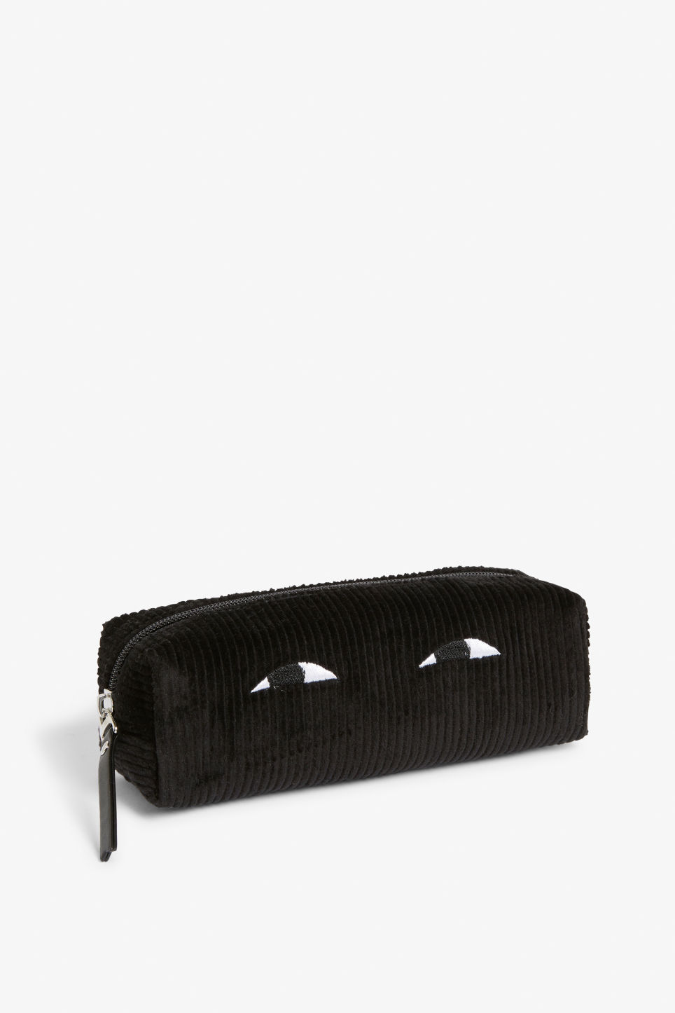Front image of Monki pencil case in black