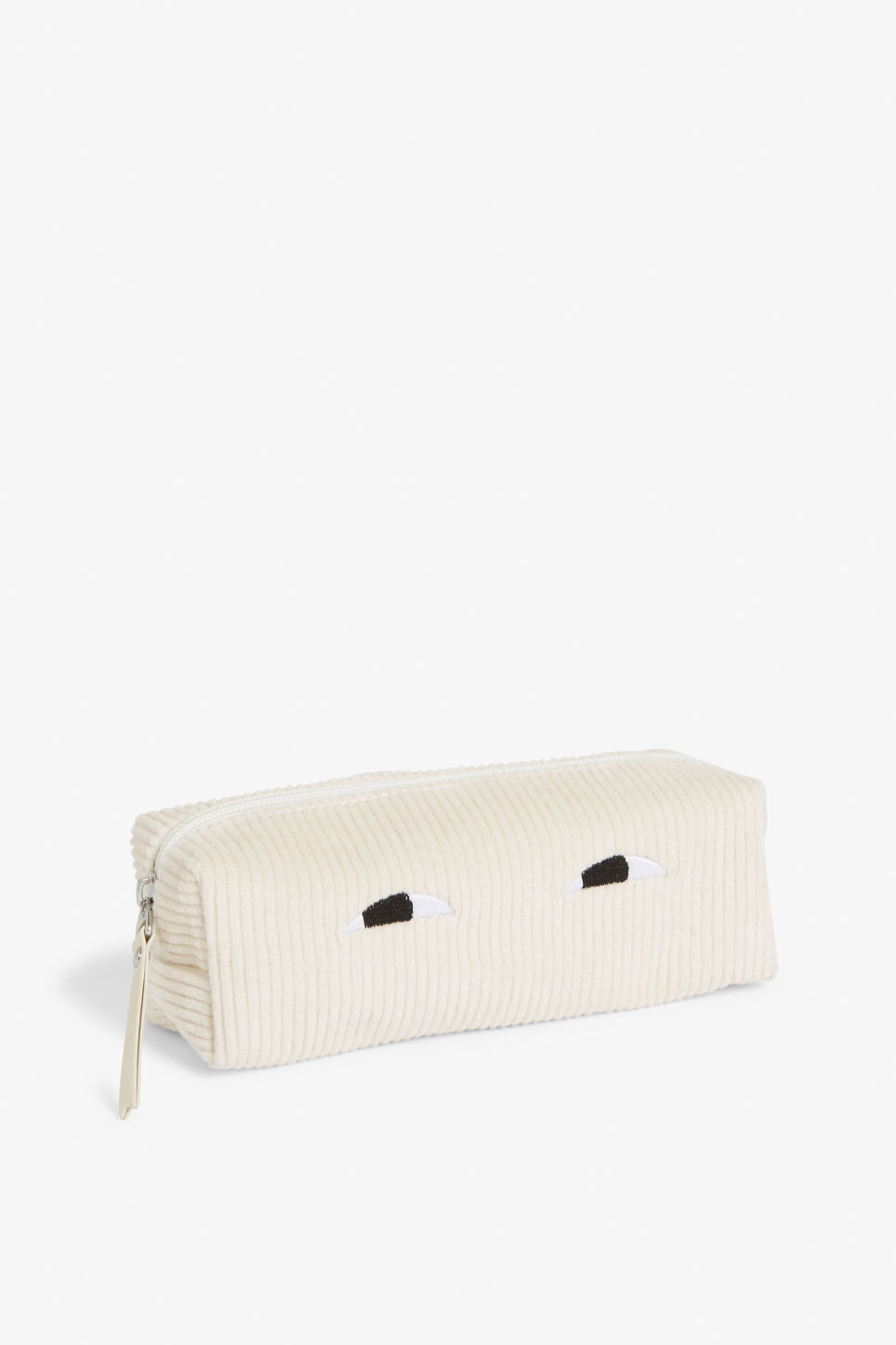 Front image of Monki pencil case in beige