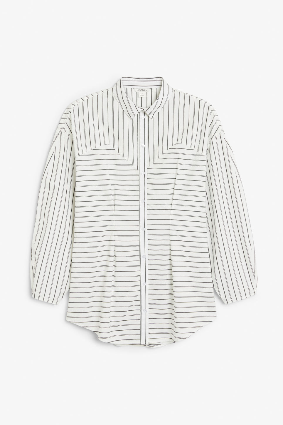 Front image of Monki bustier blouse in white