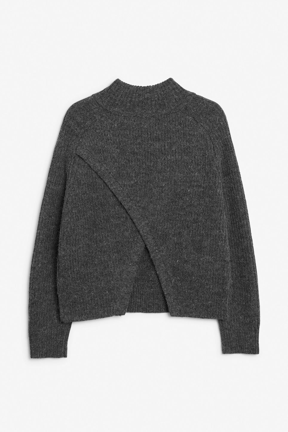 Back image of Monki knit sweater in black