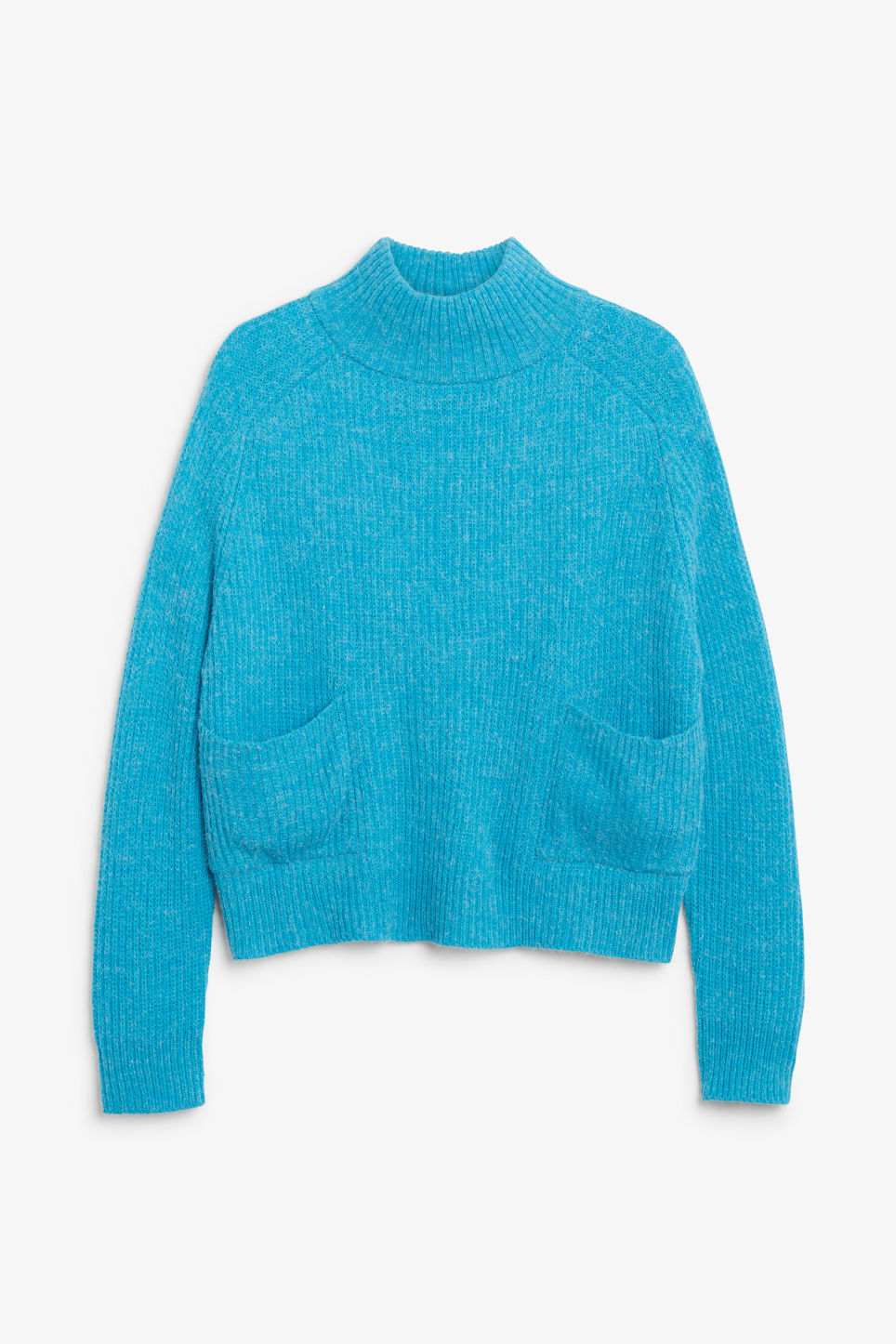 Front image of Monki knit sweater in turquoise