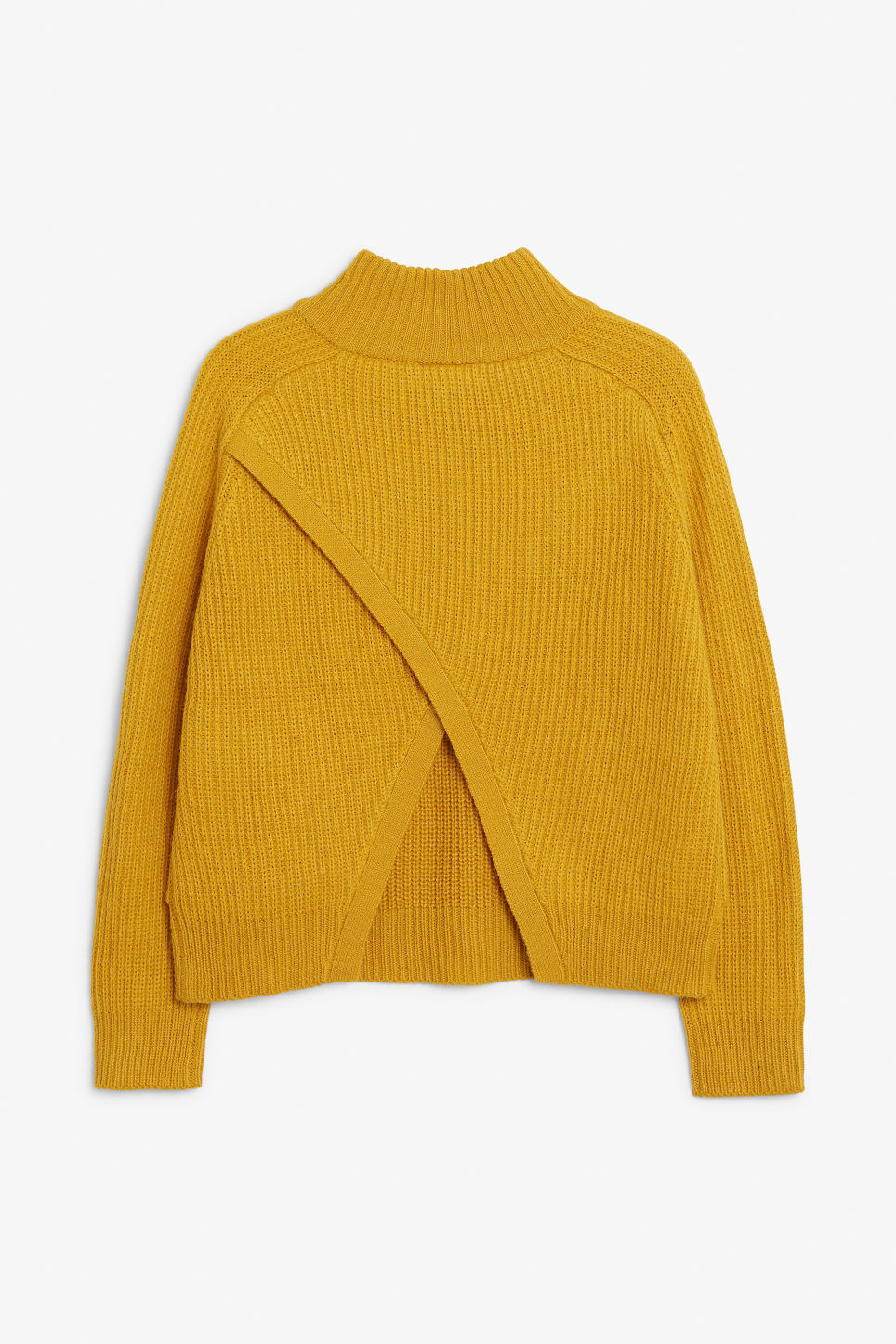 Back image of Monki knit sweater in yellow