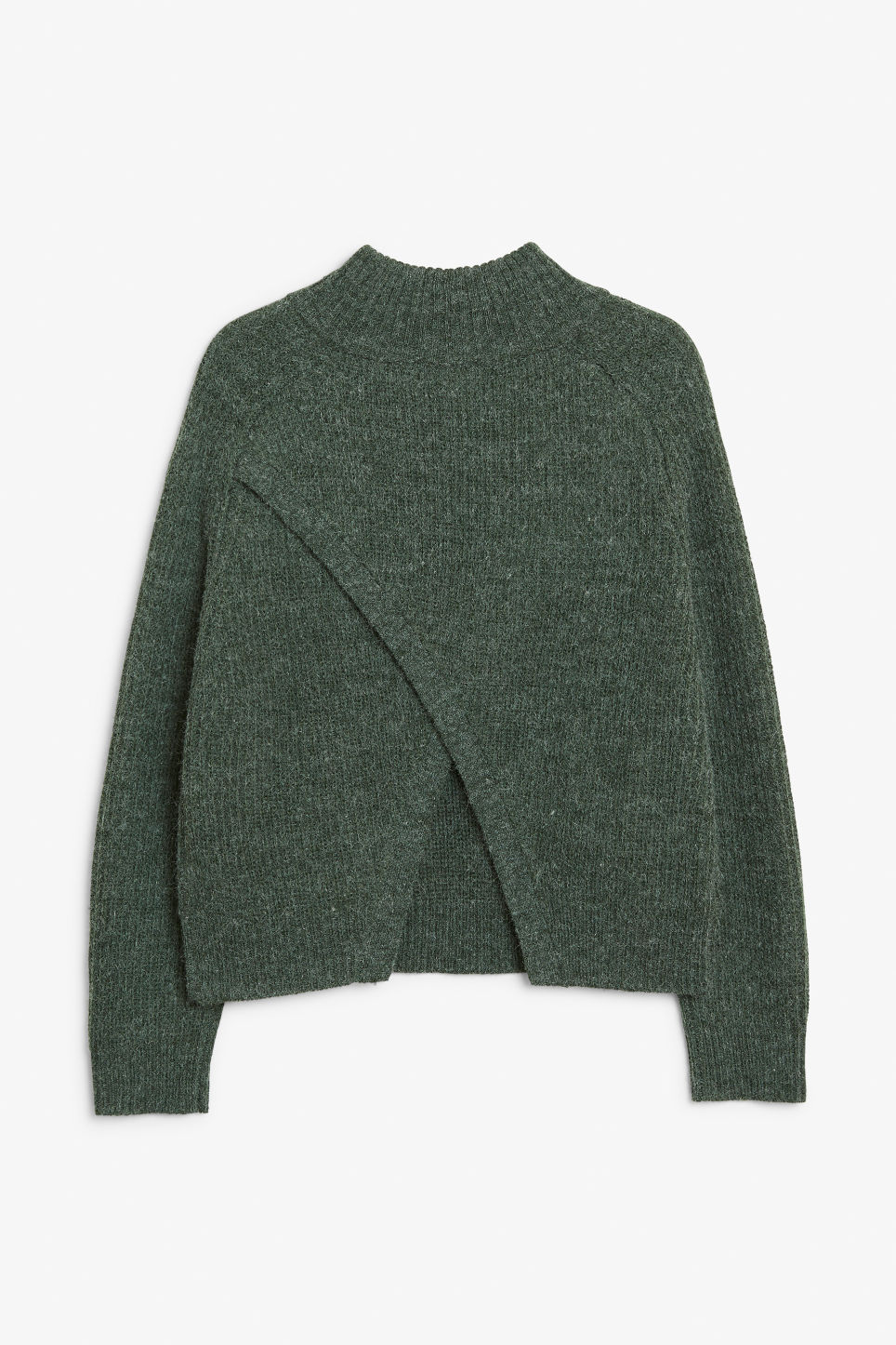 Back image of Monki knit sweater in green
