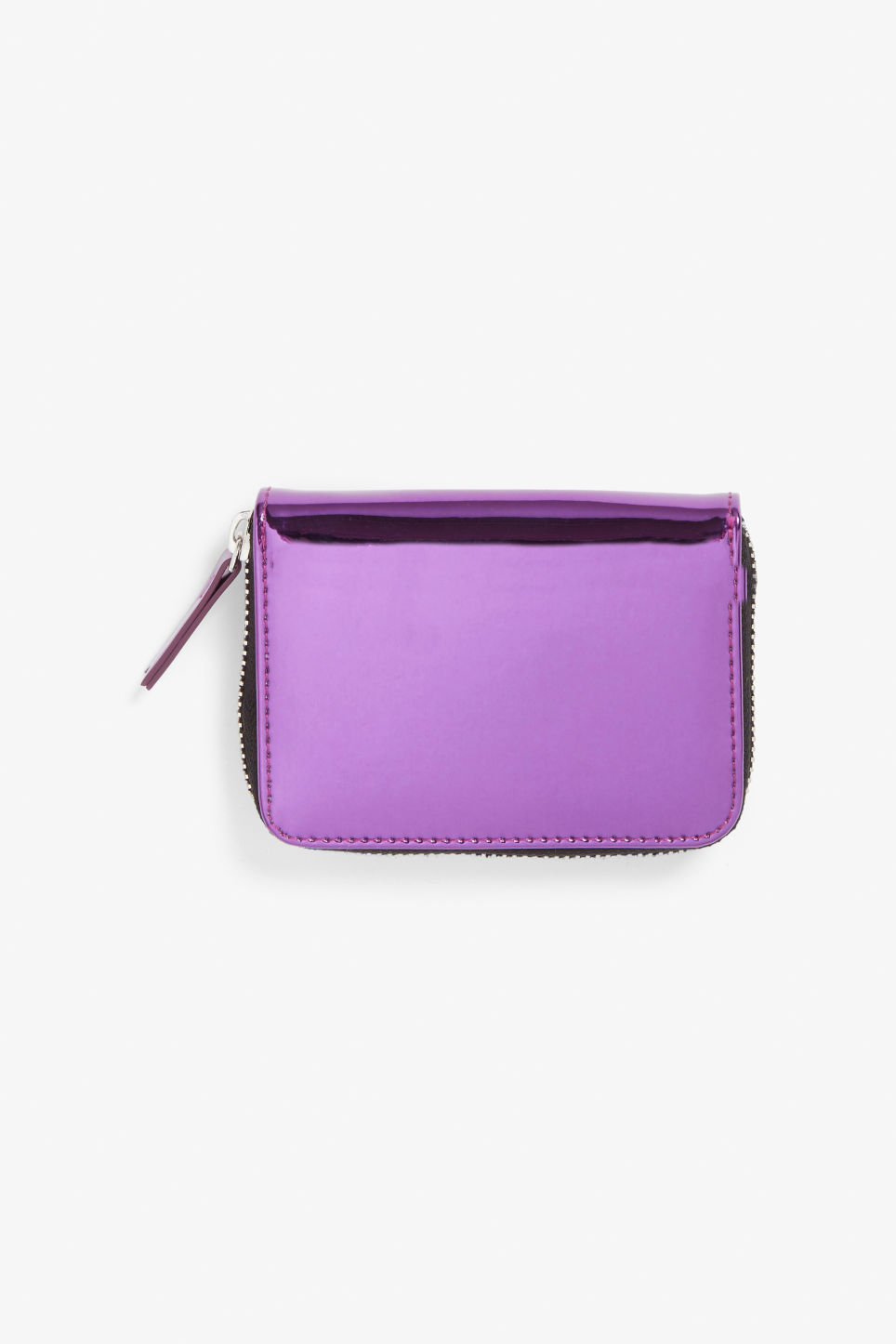 Front image of Monki zippered wallet in purple